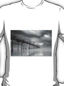 Fingal Sand Pumping Jetty in B&W NSW Australia T-Shirt