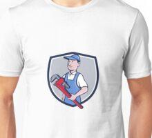 Handyman Pipe Wrench Crest Cartoon Unisex T-Shirt