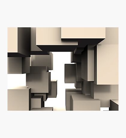 Abstract - Cube Connections Maze Photographic Print