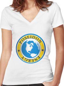Poseidon Energy Women's Fitted V-Neck T-Shirt