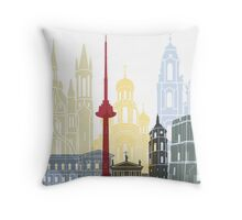 Vilnius skyline poster Throw Pillow