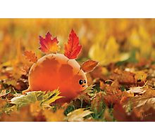 Autumn dino(leaves) Photographic Print
