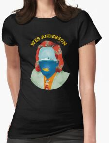 Wes Anderson's world Womens Fitted T-Shirt