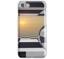 Window Checkered Cube Portal iPhone Case/Skin