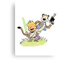Calvin and Hobbes Star Wars Canvas Print