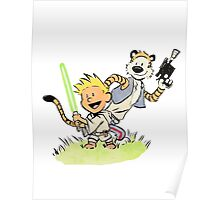Calvin and Hobbes Star Wars Poster