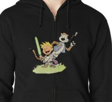 Calvin and Hobbes Star Wars Zipped Hoodie