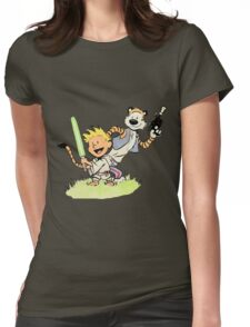Calvin and Hobbes Star Wars Womens Fitted T-Shirt