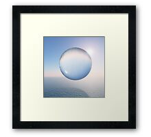 Water Sphere above the Sea Framed Print