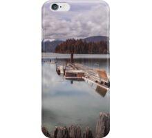 Comox Lake jetty Vancouver island iPhone Case/Skin