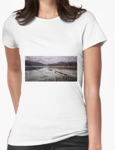 Comox Lake jetty Vancouver island Womens Fitted T-Shirt