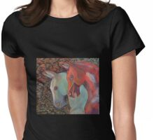Coloured Equine Treasurers Womens Fitted T-Shirt