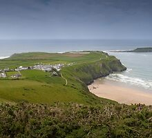 Rhossili village and bay, Gower by leightoncollins