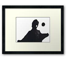 ANGRY MOON WOLFMAN Framed Print