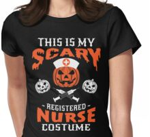 Scary Nurse Costume Womens Fitted T-Shirt