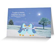 Penguin Love 2 Greeting Card