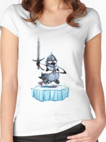 Knight penguin Women's Fitted Scoop T-Shirt