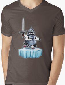Knight penguin Mens V-Neck T-Shirt