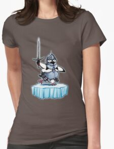 Knight penguin Womens Fitted T-Shirt