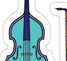 Jazz Instruments (green) Sticker