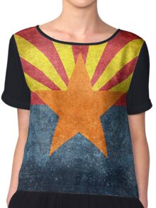 State flag of Arizona, with vintage retro style treatment Chiffon Top