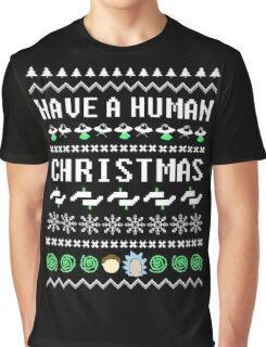 Rick & Morty Xmas Sweater Graphic T-Shirt