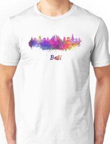 Bali skyline in watercolor Unisex T-Shirt
