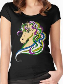 Colouring Book Horse 03 Women's Fitted Scoop T-Shirt