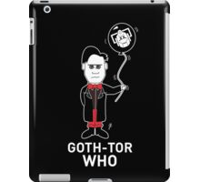 GOTH DR WHO - WHITE TEXT! iPad Case/Skin