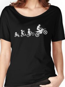 Evolution To Biking Extreme Biker Cycling,Funny Gift For Biking Lover Women's Relaxed Fit T-Shirt