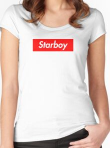 The Weeknd - Starboy Supreme logo Women's Fitted Scoop T-Shirt