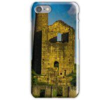 King Edward engine house, Cornwall, England iPhone Case/Skin