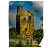 King Edward engine house, Cornwall, England Poster