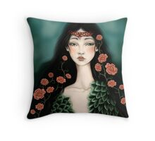 Swanmaiden Throw Pillow