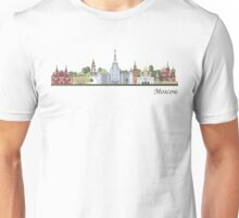 Moscow skyline colored Unisex T-Shirt