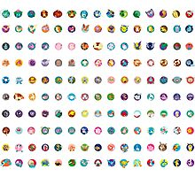150 - Pokemon Original  Photographic Print