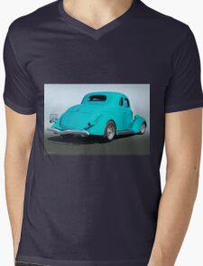 1936 Ford Coupe 3Q Rear Mens V-Neck T-Shirt
