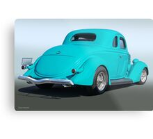 1936 Ford Coupe 3Q Rear Metal Print