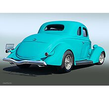 1936 Ford Coupe 3Q Rear Photographic Print