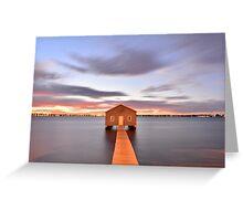 Crawley Boat shed 02 Greeting Card