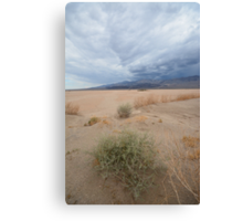 Death Valley NP, California (USA) - Dust & Clouds Canvas Print