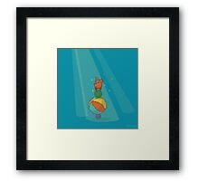 Pixel Circus Cat Framed Print