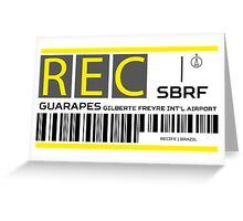 Destination Recife Airport Greeting Card