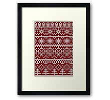 Christmas red pattern Framed Print