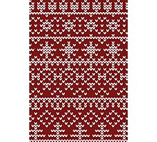 Christmas red pattern Photographic Print