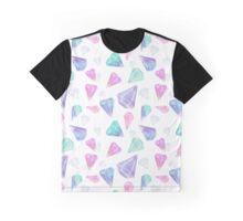 Geometric Pastel Pinks / Purple Diamonds Graphic T-Shirt