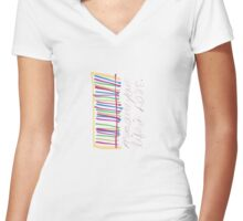 Measure Your Life in Love (Rent) Women's Fitted V-Neck T-Shirt