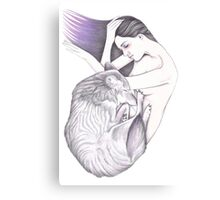 Sleeping Wolves Canvas Print