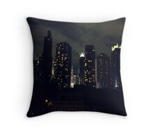 lights on buildings and everything that makes you wonder Throw Pillow