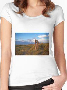 Prairie Fence Briggsdale Colorado Women's Fitted Scoop T-Shirt